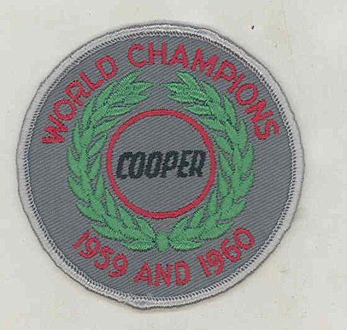 1959 1960 Cooper Race Car ORIGINAL Embroidered Vintage Patch