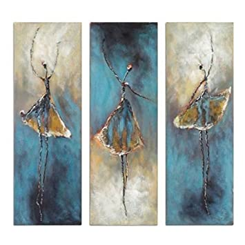 Santin Art Ballerina Paintings On Canvas Stretched And Framed Modern  Abstract Wall Art Paintings