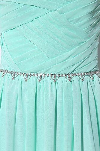 Kristall Schwarz Clearbridal Perspektiv Chiffon Damen Abendkleider CSD184 Abschusskleider Lange mit Herzausschnitt Ballkleider HqS6UHn