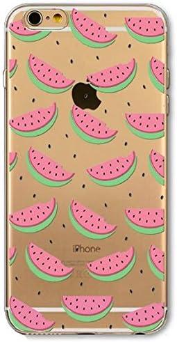 the case Coque en Silicone Souple pour iphone 5, 5S et 5SE Modèle Petite pasteque