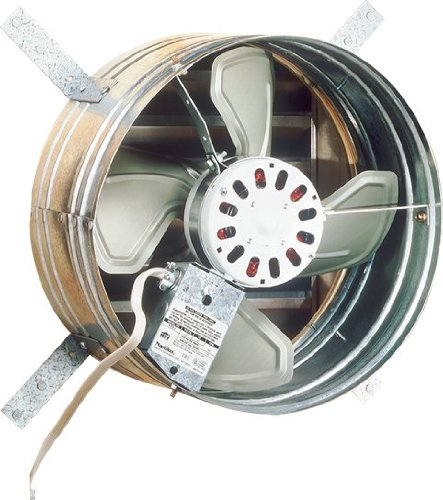 (Broan 35316 Gable Mount 120-Volt Powered Attic Ventilator, 1600 CFM)