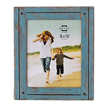 8x10 Homestead Distressed Blue Wood Frame