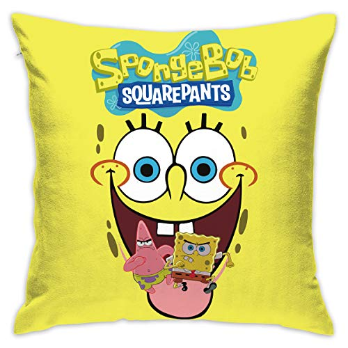 PSnsnX Spongebob Squarepants Pillow Covers Home Decor Throw Pillow Covers Cushion Cover