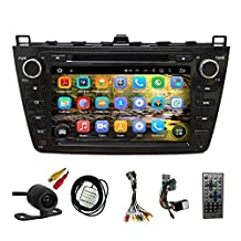 TLTek 8 inch HD 1024*600 Muti-touch Screen Car GPS Navigation System For Mazda 6 2009-2013 Android DVD Player+Backup Camera+North America Map