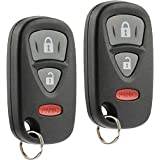 Car Key Fob Keyless Entry Remote fits 2006-2013 Suzuki Grand Vitara, 2007-2014 SX4 (KBRTS005, 37180-64J00), Set of 2