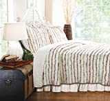 Greenland Home Bella Ruffle Quilt Set, Full/Queen