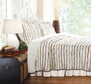 Greenland Home Bella Ruffle Quilt Set, Full/Queen