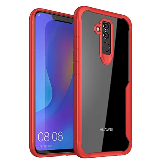 comprare popolare a0db5 6cc76 Huawei Mate 20 Lite Case, Ultra Hybrid Heavy Duty Transparent Clear Phone  Case for Huawei Mate 20 Lite, Shockproof Protective Phone Cases with Air ...