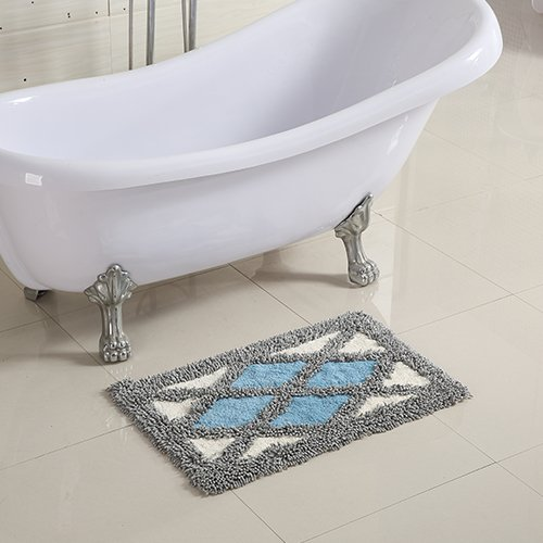 Cotton bathroom water-absorbing mats household mats non-slip door mat bathroom mat -5080cm t by ZYZX