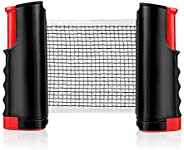 Portable Ping Pong Net, Retractable Table Tennis Net Adjustable Easy to Install and Remove with 5cm Clamp Mout