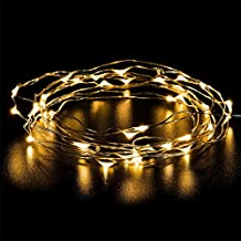YINUO LIGHT LED SopoTek 13ft 40 LEDS Starry Lights Fairy Lights Copper LED Lights Strings AA Battery Powered Ultra Thin String Wire 40 Leds Warm white