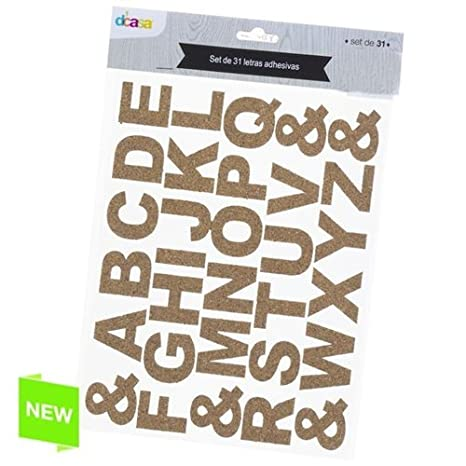 Set 31 Lettere Adesive Sughero Amazonit Casa E Cucina