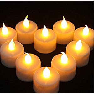 Flameless LED Battery Operated Tealight Candles 100 Bulk Pack of White Tealights