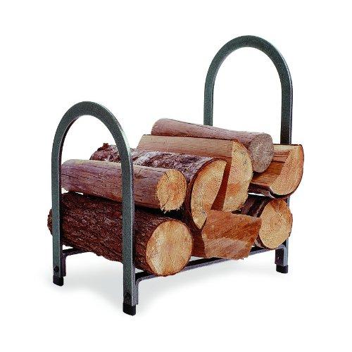 Enclume Design Offset Arch Log Rack, Hammered Steel ()