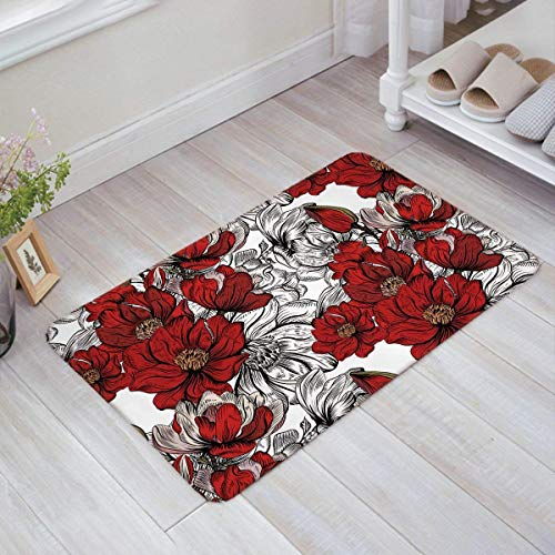 Non Felpudos front Flower 23 l W Entrance Rug Indoor 6