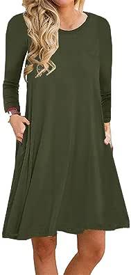 Boho Tshirt Dresses Women Sleeveless Summer Beach Floral Shift Pockets Casual Swing Loose Damask