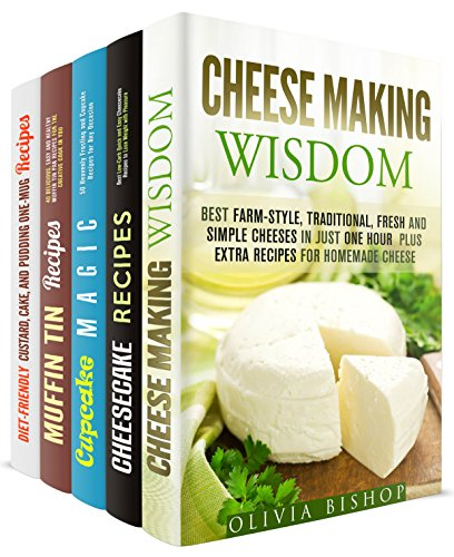 Cheese and Heavenly Desserts Box Set (5 in 1): Cheese, Cheesecake, Cupcakes, Muffins, and Custard Recipes for Any Occasion (Urban Homesteading) by [Bishop, Olivia, Hendricks, Melissa, Morgan, Sherry, Chambers, Elena]