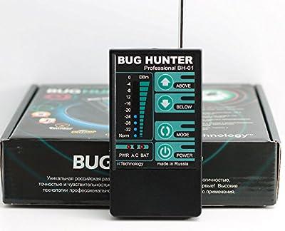 Highly Sensitivity RF Detector Bug Hunter-1 Professional Hidden Wireless Camera Bug Finder GSM Scanner