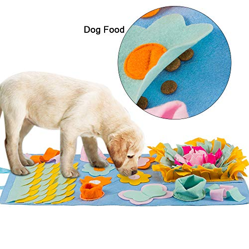 (Green House Upgraded Dog Snuffle Mat, 18x30 Inch New Pet Puzzle Toy Sniffing Training Nosework Pad Activity Blanket Feeding Mat)