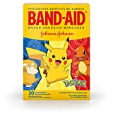 Band-Aid Brand Kids Adhesive Bandages for Minor Cuts & Scrapes, Pokémon, Assorted Sizes, 20 ct