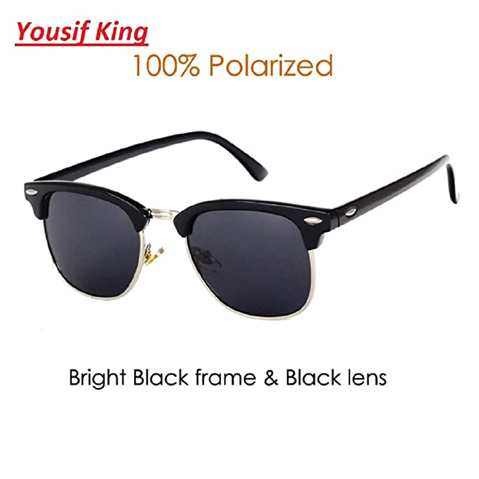 Amazon.com: Yousif King Classic Brand Polarized Sunglasses ...