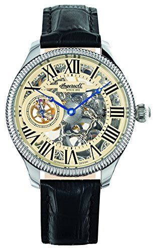 Ingersoll Men's IN7904WHS Arizona II Mechanical Timepiece Silver Skeleton Watch