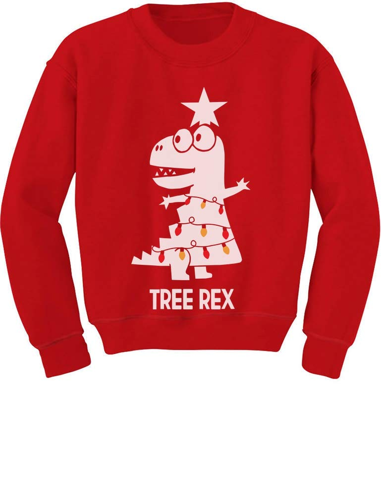 TeeStars - Tree Rex Cute Funny T-Rex Dinosaur Christmas Toddler/Kids Sweatshirt GMPlhZ3gf5
