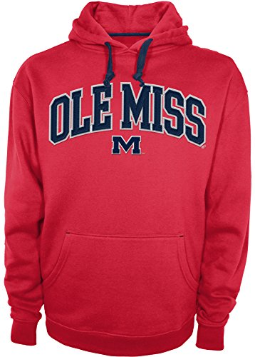 Athletic Hood Majestic (NCAA Mississippi Old Miss Rebels A1169-CH008 Long Sleeve Pull Over Hood, Small, Red)