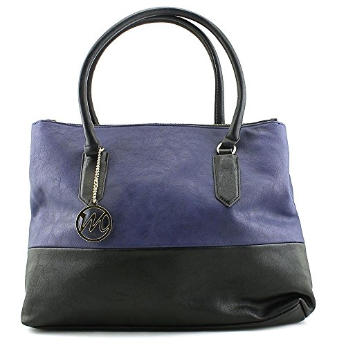 emilie-m-cheri-computer-travel-tote-navy-blue-one-size