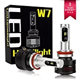 WEISIJI H8 H9 H11 H16 5202 LED Headlight Bulbs Conversion Kit Super Bright 60W 9600LM Built-in Drive Intelligent Dual-module Headlamp 6000K (H8/H11 1Pair/2Pcs)