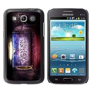 TopCaseStore / la caja del caucho duro de la cubierta de protección de la piel - Question Everything - Samsung Galaxy Win I8550 I8552 Grand Quattro