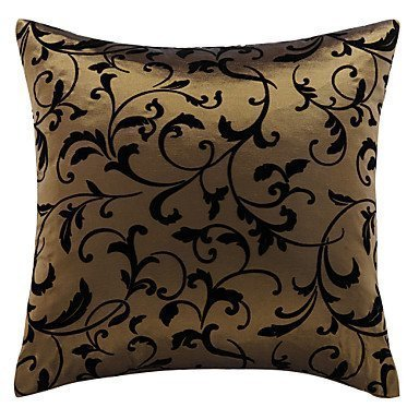 Lumimi Stylish Leaves One Polyester Decorative Pillow Cover ( 16*16 ) -