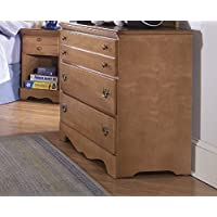 Carolina Furniture Works 155300 Dresser with Single 3 Drawer, Salem Maple