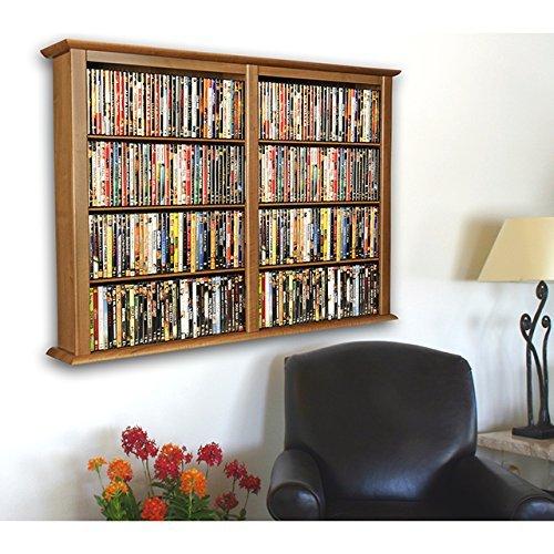 Oak Wall Mount Cabinet (Venture Horizon Wall Mount Media Cabinet-Double Oak)