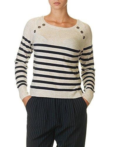 Only Women's Bayonne Stripe Women's Pullover In Blue Beige
