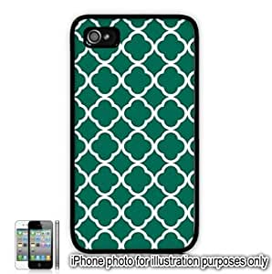 Green Quatrefoil Symbol Pattern Apple iPhone 4 4S Case Cover Skin Black