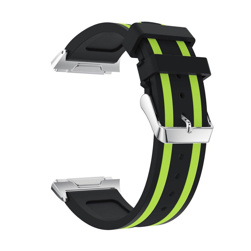 kaicranファッションスポーツバンドスポーツソフトシリコン交換スポーツバンドfor Fitbit Ionic One size ブラック ブラック B078JT5NXT