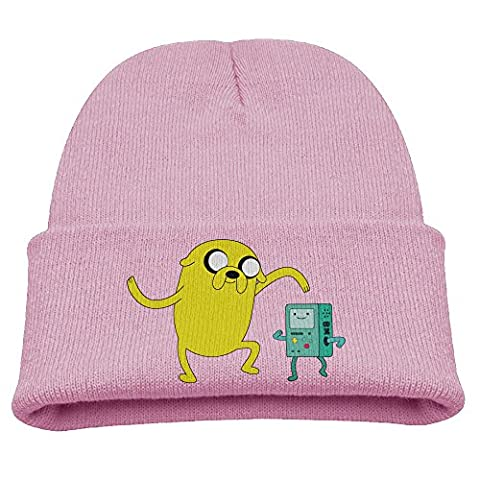Babala Adventure Time Jake Boys And Girls Knitted Beanie Cap Hat Skull Cap Hat Pink (Jake Wii)