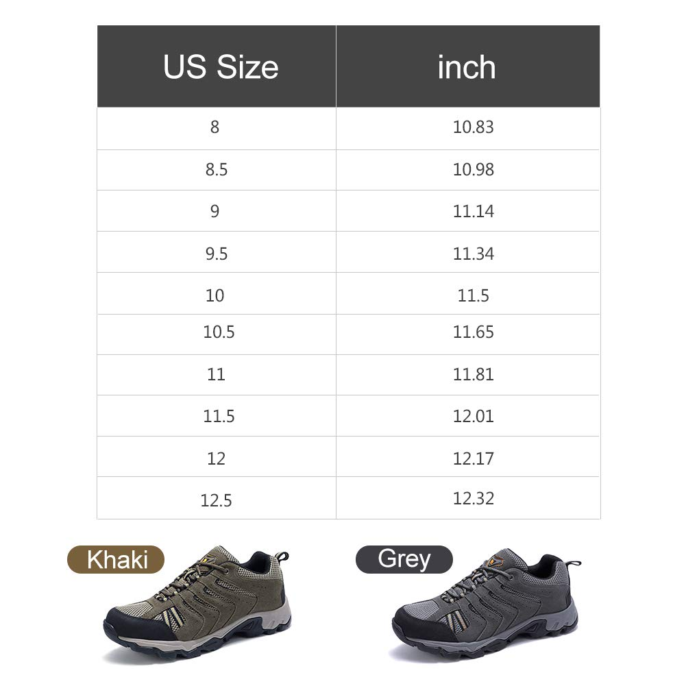 0c55a33df7c7 CAMEL CROWN Mens Leather Hiking Shoes Lightweight Slip-Resistant Walking  Sneakers for Outdoor Trail Trekking Climbing