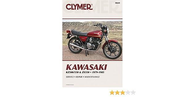 amazon com: clymer repair manual for kawasaki kz500 kz550 zx550 79-85:  automotive