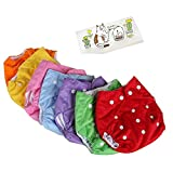 Lucky staryuan ® 5Pack Baby Diaper Reusable Leakproof Adjustable (1-3years, girl)