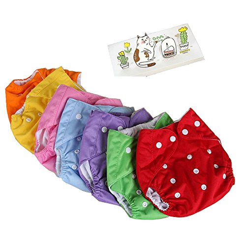 Lucky staryuan Cyber Monday 5Pack Baby Diaper Reusable Leakproof Adjustable Infant 1-3 Years (Leak Proof Peva Lining)