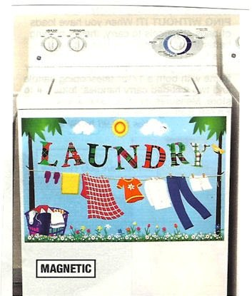 LAUNDRY ROOM DECORATIVE WASHER/DRYER MAGNETIC DECAL (26