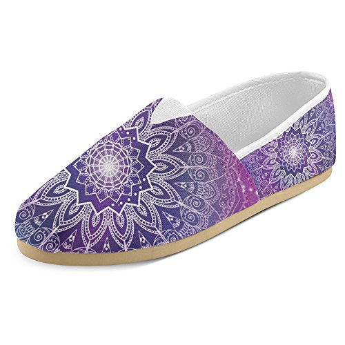 Mocassini Da Donna Di Interestprint Classico Su Tela Casual Slip On Fashion Shoes Sneakers Flat Multi 1