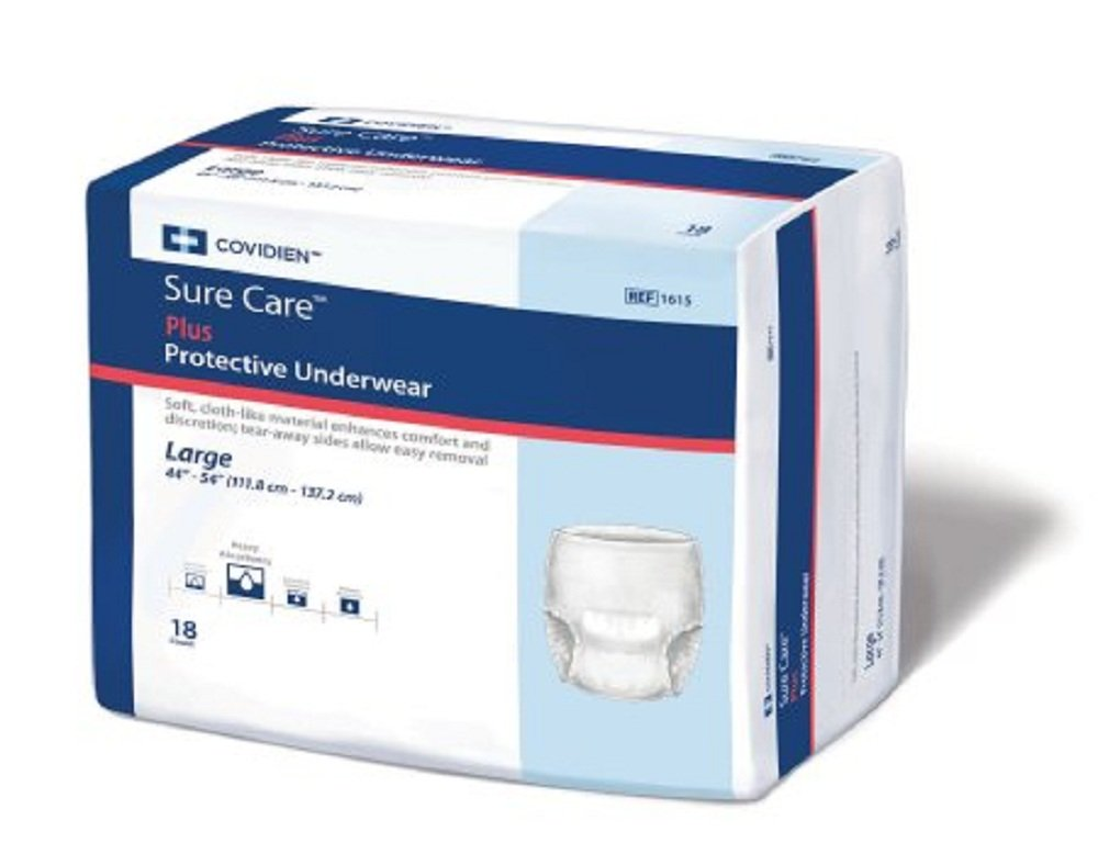 Sure Care - Adult Absorbent Underwear Sure Care - Pull On Large Disposable Heavy Absorbency - 72/Case - McK