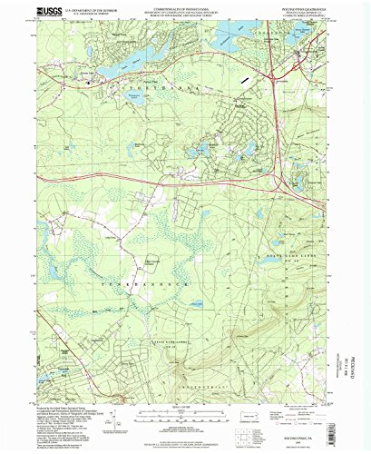 YellowMaps Pocono Pines PA topo map, 1:24000 Scale, 7.5 X 7.5 Minute, Historical, 1997, Updated 1998, 26.8 x 22 in - Tyvek