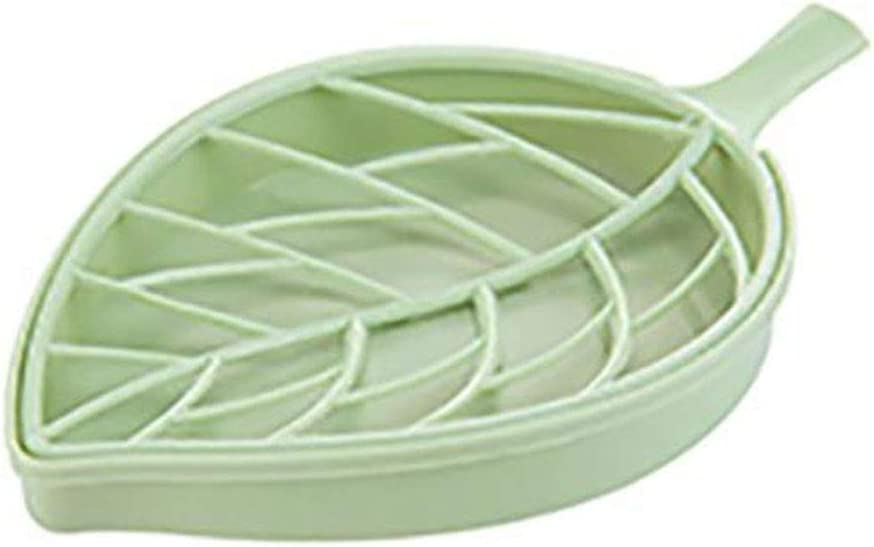 Storage Box Bathroom Shower Leaf Shape Soap Containers Dish Storage Plate Tray Holder Organizer Case Boxes,B