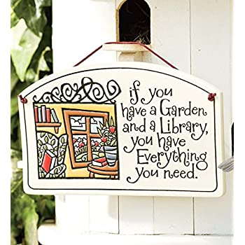 Amazon.com: Library Garden Sign: Home & Kitchen