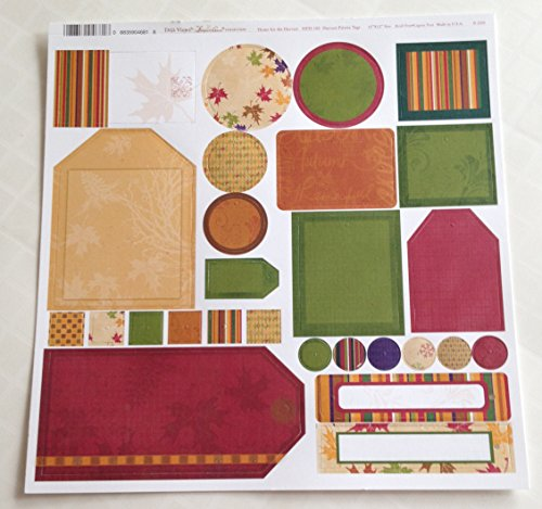 (Harvest Palette Tags Die Cuts for Scrapbooking (HFH100))