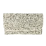 From St Xavier Snow Beaded Convertible Clutch, Ivory Multi